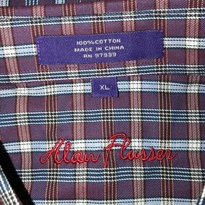 Alan Flusser Shirts - 👍Final Price Alan Flusser Purple Plaid Shirt
